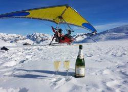 Vol ULM Sur Glacier.
