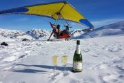 Vol en ulm sur glacier